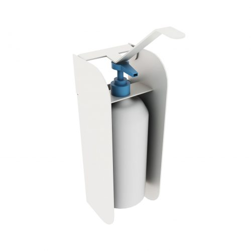 Wall-mounted stand with elbow dispenser A